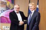 Συνεργασία για twinning labs συμφώνησαν Κ. Φωτάκης και Νορβηγός Πρέσβης
